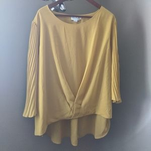 Molly Bracken Yellow Flowy Blouse